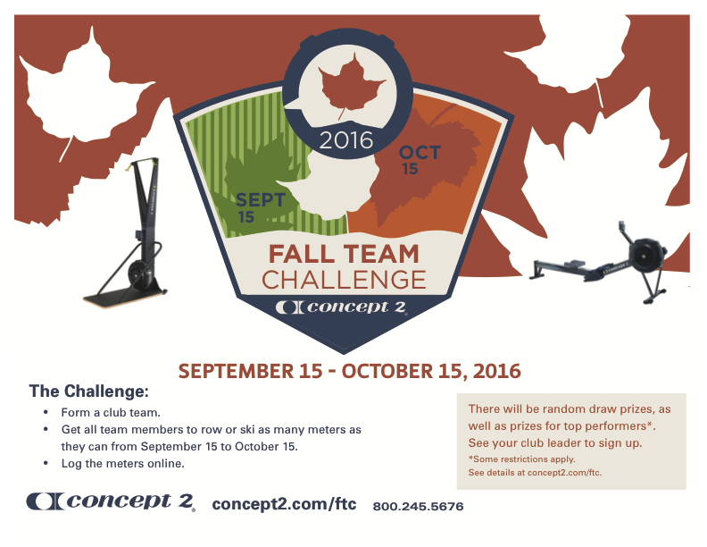 Concept2 Logbook | Fall Team Challenge