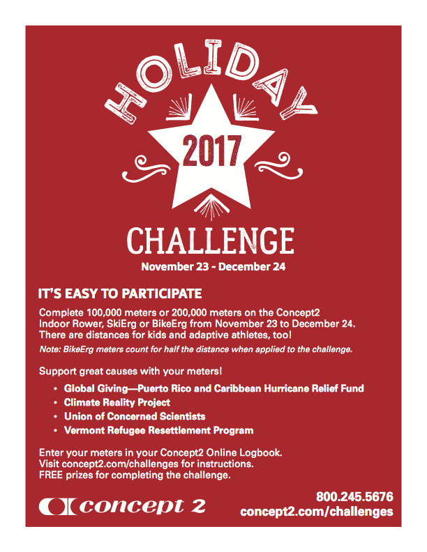 Concept2 Logbook | Holiday Challenge